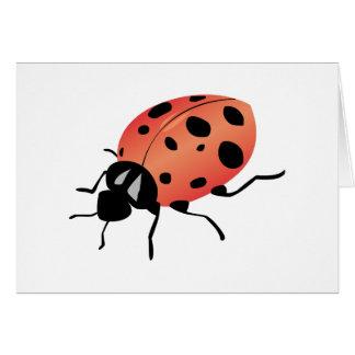 Señora Bug Tarjeta De Felicitación