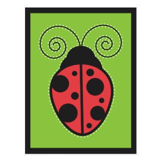 Señora Bug Tarjeta Postal
