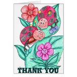 Señora Bugs Thank You Card Tarjeton