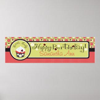 Señora Bugs y bandera del cumpleaños de la magdale Póster
