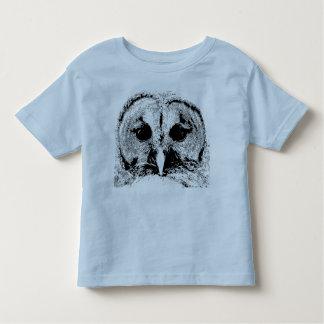 Señora búho barrado - camiseta del niño playeras