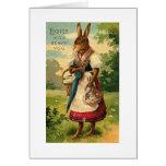 Señora Bunny Brings Pascua Joy Felicitación