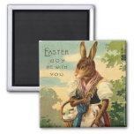 Señora Bunny Brings Pascua Joy Imán De Frigorífico