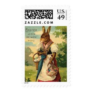 Señora Bunny Brings Pascua Joy Sello