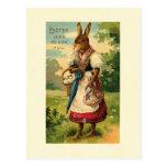 Señora Bunny Brings Pascua Joy Tarjetas Postales