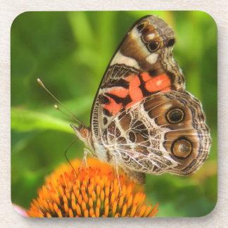 Señora Butterfly Cork Coasters Posavaso