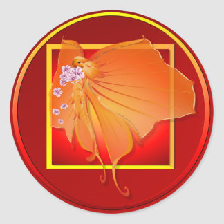 Señora Butterfly Sticker de Sun Pegatinas