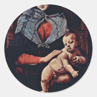 Señora By Piero di Cosimo (la mejor calidad) de la Pegatina Redonda