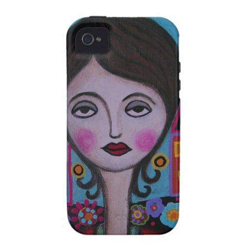 Señora caprichosa del pájaro por Prisarts iPhone 4 Carcasa