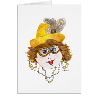Señora caprichosa en una dieta de los mariscos tarjetas