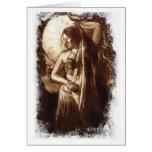 Señora Card de la danza del vientre Tarjeta