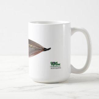 Señora Caroline Salmon Fly Mug Taza Básica Blanca