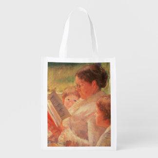 Señora Cassatt Reading a sus nietos, 1888 Bolsas Reutilizables