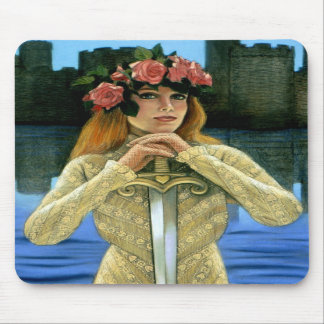 Señora céltica Sword Roses Crown Art de Mousepad d