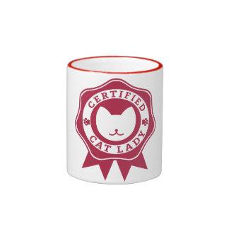 Señora certificada Mug del gato Taza De Café