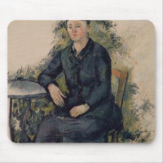 Señora Cezanne en el jardín 1880-82 Alfombrillas De Raton