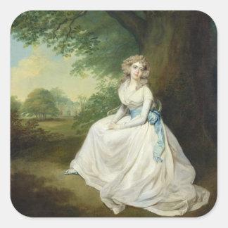 Señora Chambers, c.1789 (aceite en lona) Pegatina Cuadrada