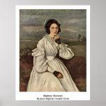 Señora Charmois By Jean-Baptiste Camilo Corot Poster