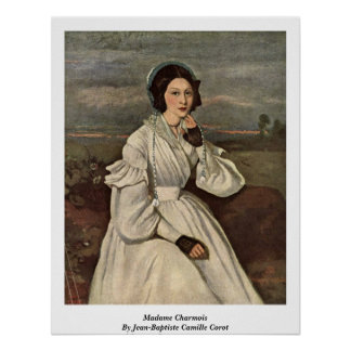 Señora Charmois By Jean-Baptiste Camilo Corot Póster