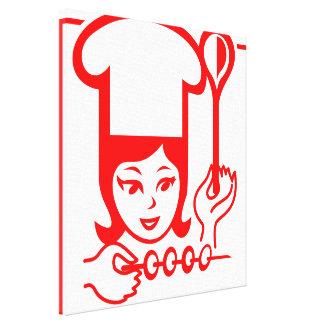 Señora Chef Lienzo Envuelto Para Galerías