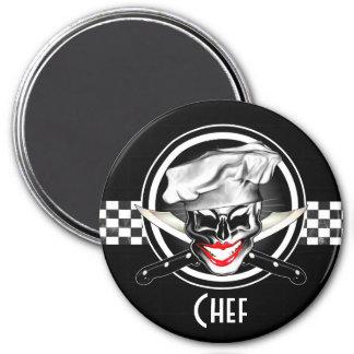 Señora Chef Skull Imán Redondo 7 Cm