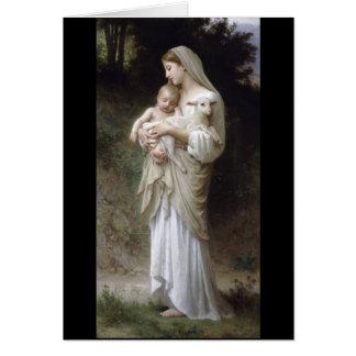 Señora Child Lamb de la inocencia de Bouguereau Tarjeta De Felicitación