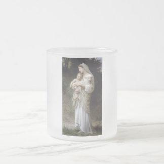 Señora Child Lamb de la inocencia de Bouguereau Taza De Cristal