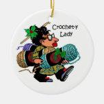 Señora Christmas Ornament del Ganchillo-y Ornaments Para Arbol De Navidad