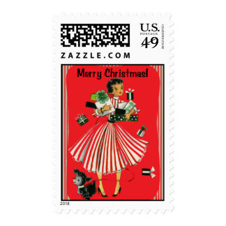 Señora Christmas Stamp de las compras del Envio