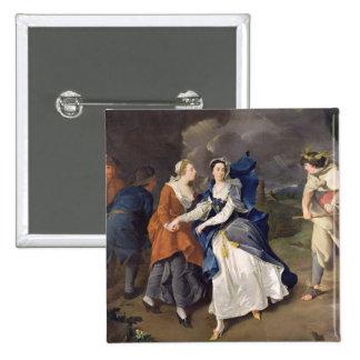 Señora Cibber (1714-66) como Cordelia, 1755 (el ac Pin Cuadrada 5 Cm