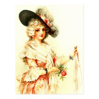 Señora Clara Vere De Vere con un gorra de la pluma Postales