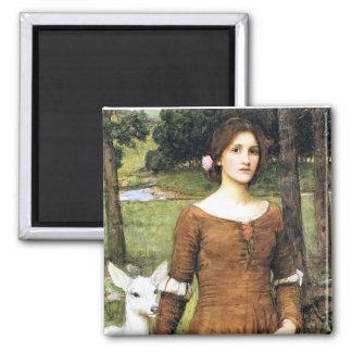 Señora Clare con un cervatillo Imán