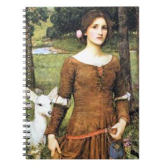 Señora Clare con un cervatillo Libreta Espiral