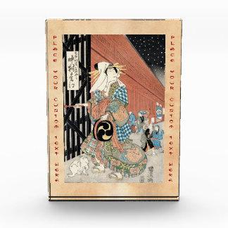 Señora clásica del geisha del vintage japaese fres
