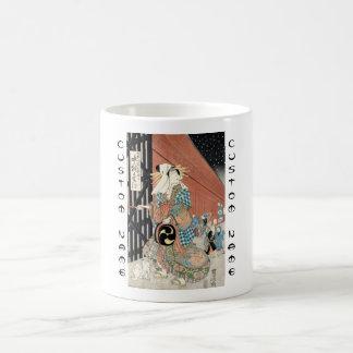 Señora clásica del geisha del vintage japaese taza
