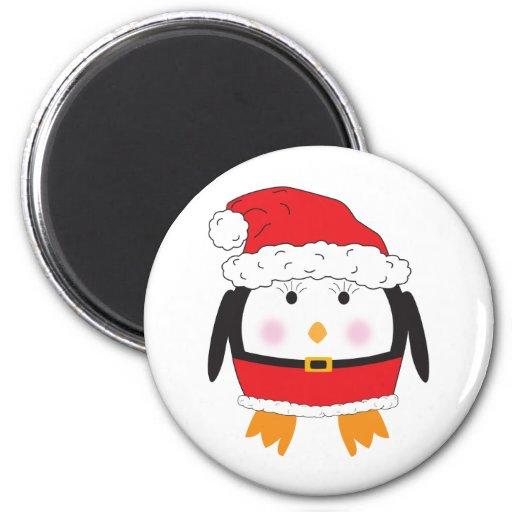 Señora Claus Penguin Imán Redondo 5 Cm