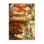 Señora Claus y duendes de Santas que cuecen las Postal