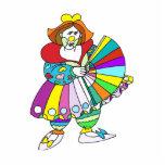 Señora Clown con la fan Escultura Fotográfica