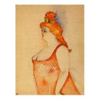 Señora Cocyte por Toulouse-Lautrec Postal