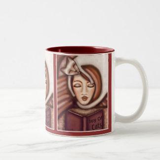 Señora Coffee del gato siamés/taza del té Taza De Dos Tonos