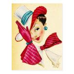 Señora con clase Postcard Tarjeta Postal