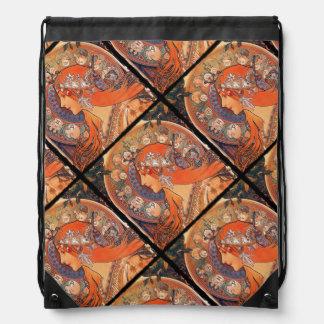 Señora con el fondo del zodiaco mochilas