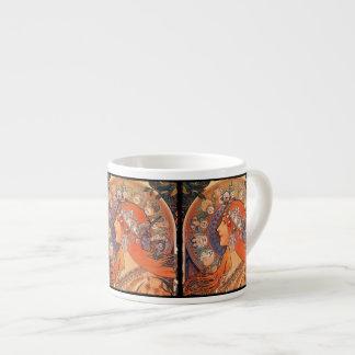 Señora con el fondo del zodiaco taza espresso