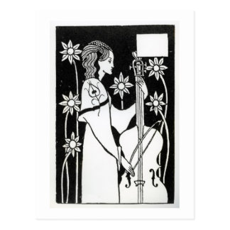 """Señora con el violoncelo, """"del ` del d'Arthur de Postal"""