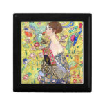 Señora con la fan de Gustavo Klimt Caja De Joyas