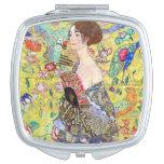 Señora con la fan de Gustavo Klimt, Japonism del Espejo Maquillaje