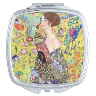 Señora con la fan de Gustavo Klimt Japonism del Espejo Maquillaje