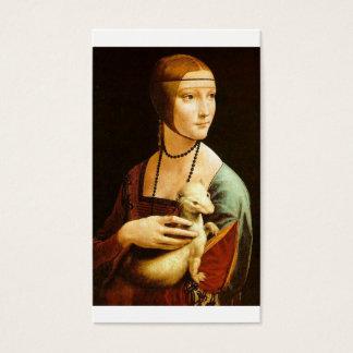 Señora con un armiño de Leonardo da Vinci C. 1490 Tarjeta De Negocios