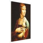 Señora con un armiño, Leonardo da Vinci Lienzo Envuelto Para Galerias
