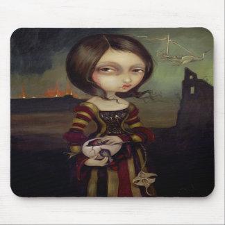 Señora con un huevo Mousepad gótico de Bosch